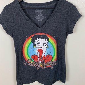Betty Boop T-shirt/distressed/size L 11- 13